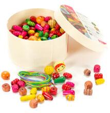 Gyöngyfűző készlet kerek-dobozos (kicsi)
