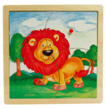 Fogantyús puzzle (oroszlán)
