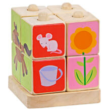 Montessori képkirakó (4 rudas)