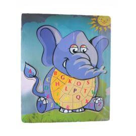 Puzzle betűkkel (elefánt)