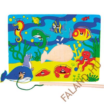 Mágneses horgász puzzle (csikóhalas)
