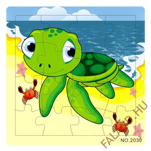 Puzzle 16 db-os (teknős)