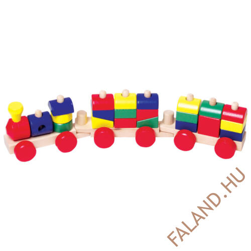 Színes vonat (építős)