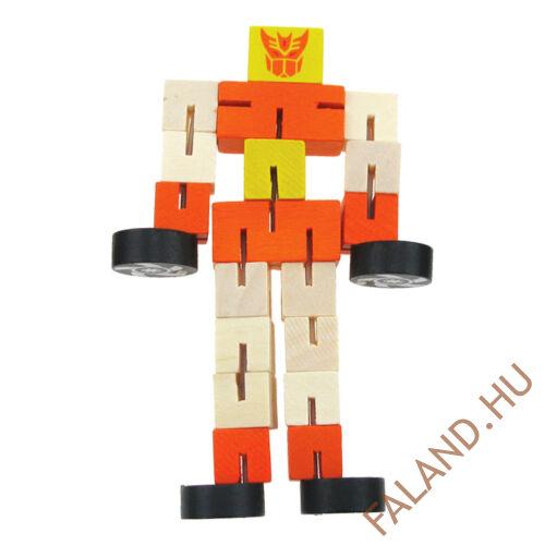 Robot-autó (átalakítható, sárga-piros)