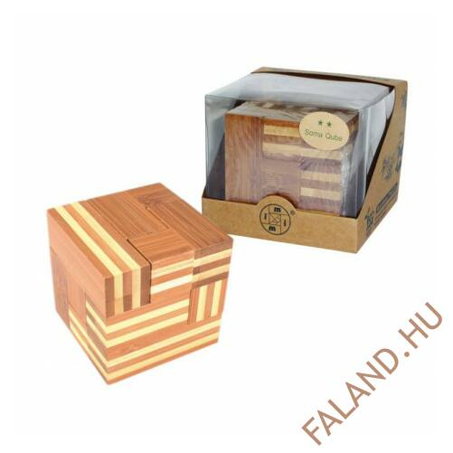 Logikai soma kocka(bambusz, nagy)